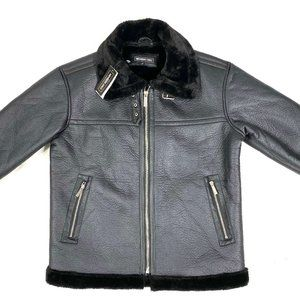 Members Only faux shearling mens jacket